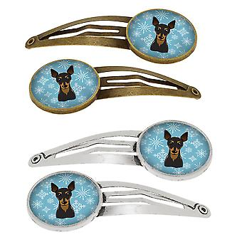Tesoros de Carolines BB1674HCS4 copo de nieve Pin Min conjunto de 4 broches pelo Clips
