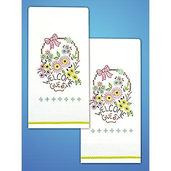 Stamped Kitchen Towels For Embroidery 18