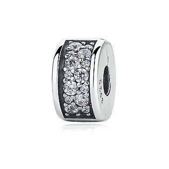 Sterling silver clip with zirconia Shining elegance PAS311-T