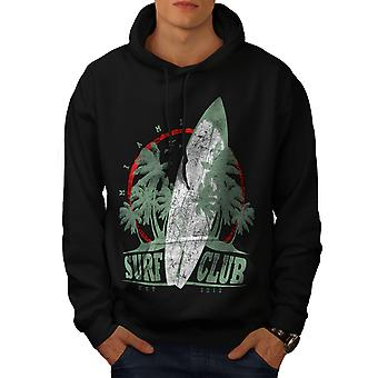 Surf Club Miami Men BlackHoodie | Wellcoda
