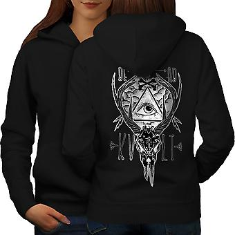 Dead Triangle Women BlackHoodie Back | Wellcoda