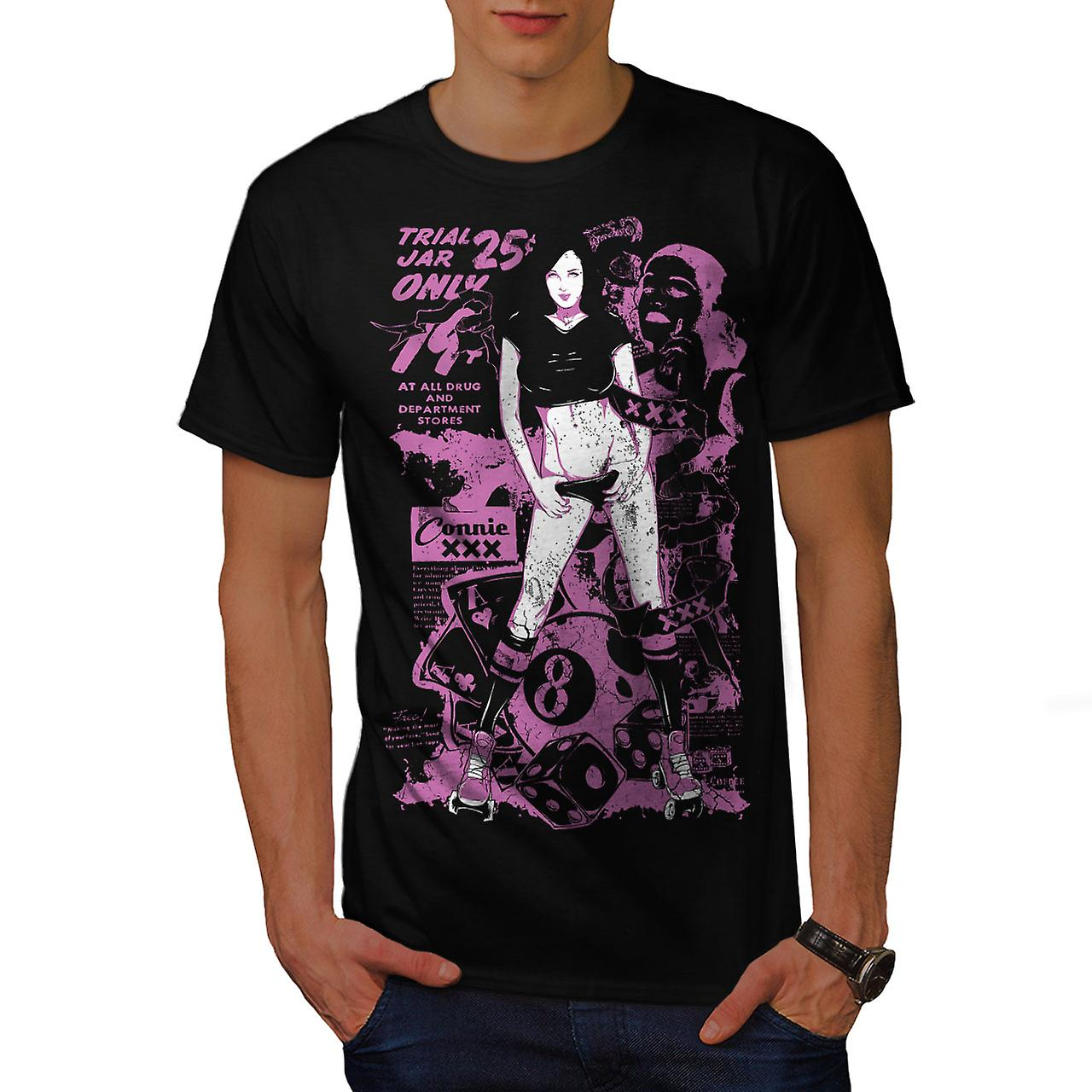 Girl Hot Trial Jar Sexy Men Black T-shirt | Wellcoda