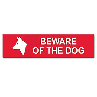 ASEC Small `Beware Of The Dog` Sign 200mm X 50mm