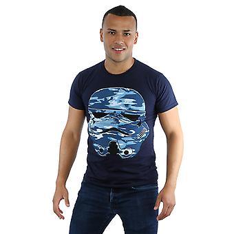 Star Wars Men's Stormtrooper Command Midnight Camo T-Shirt