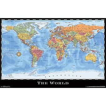 Map - World Poster Print