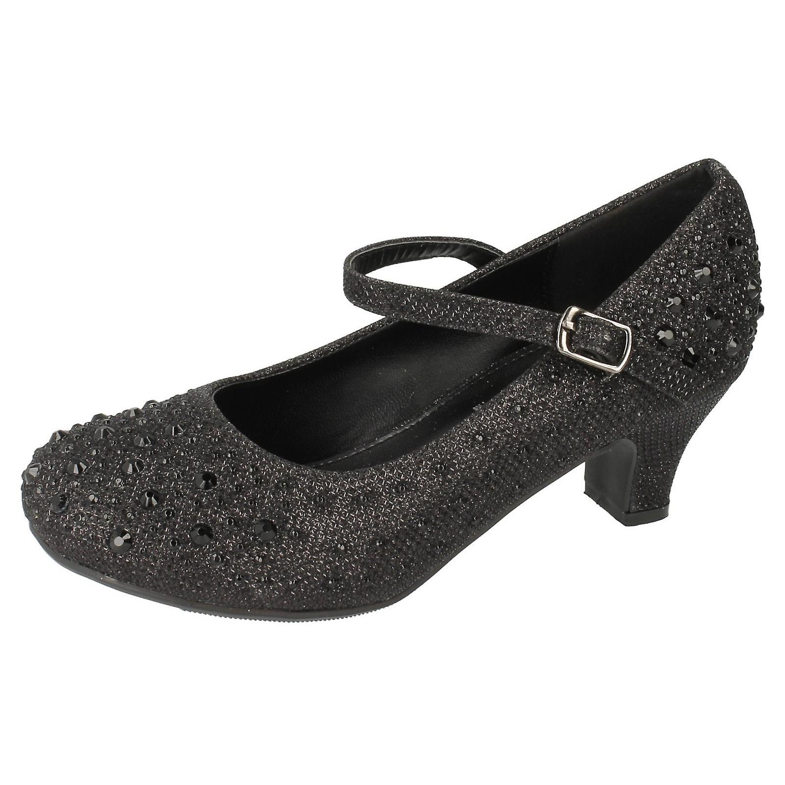 Vor Ort auf Kinder Mädchen Diamante Glitter Bar Armband High Heel Schuhe