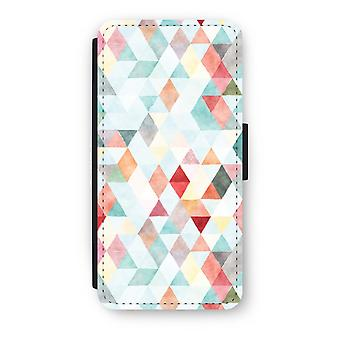 iPhone 6/6s Flip Case - Coloured triangles pastel