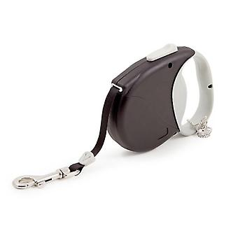 Ancol Black Small Bite Crown Jewel Retractable Lead