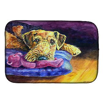 Carolines Treasures  7345DDM Airedale Terrier Teddy Bear Dish Drying Mat