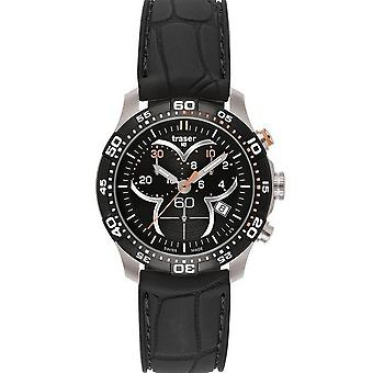 Traser H3 Ladytime black chronograph mens watch T7392. 8AH. G1A. 01 / 100314