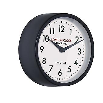 London Clock 1922 18cm Station Collection Horwich Black Wall Clock