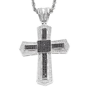 Iced out bling MICRO PAVE pendants - KING CROSS black