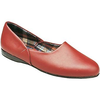 Mirak Mens Jayson Slip-On Leather Textile Inner Slipper Shoe Red