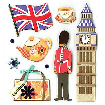 K&Co Dimensional Stickers-Sites Of London K578029