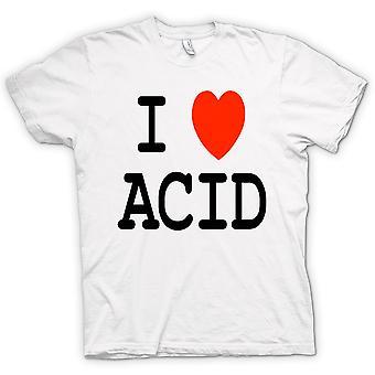 Mens T-Shirts - ich Liebe Herz Acid - lustig