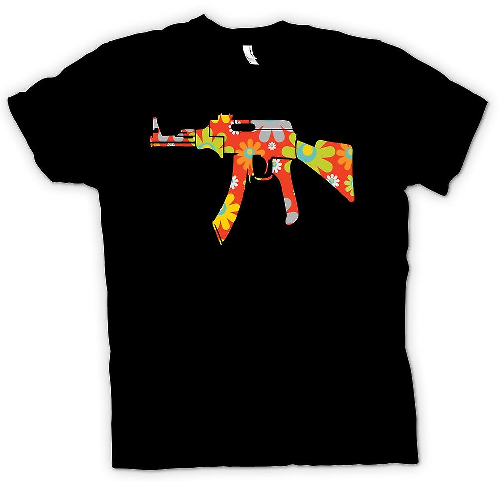 Mens T-shirt - AK47 Hippie Peace - Funny