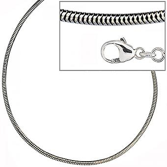 Snake chain, silver chain silver necklace 925 Silver rhodium plated 1.9 mm