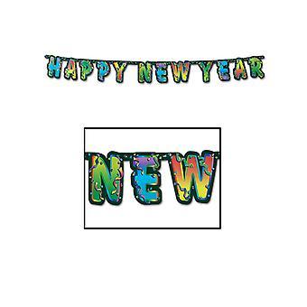 Frohes neues Jahr gegliederte Banner