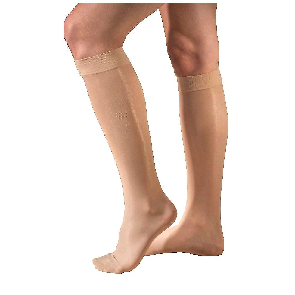Therafirm Sheer Support Knee Highs [Style A] Black  M