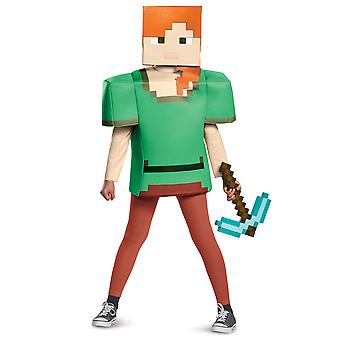 Alex Classic Minecraft Video Game Player Miner Builder Hunter Girls Costume