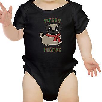 Wesołych Pugmas Mops Baby Body śmieszne prezenty dla dzieci Odzież