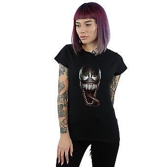 Meraviglia veleno viso fotografica t-shirt femminile