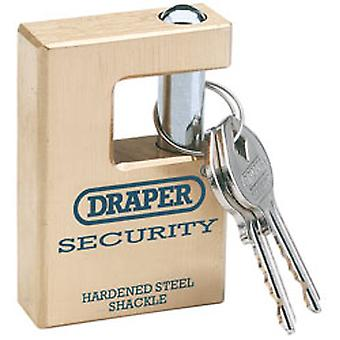Draper 64201 Expert 63mm Quality Close Shackle Solid Brass Padlock & 2 Keys