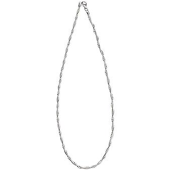 Beginnings Snake Chain and Faceted Bead Twist Necklace - Silver