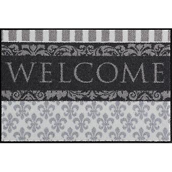 Salão leão porta esteira bem-vinda lírios 50 x 75 cm, tapetes laváveis