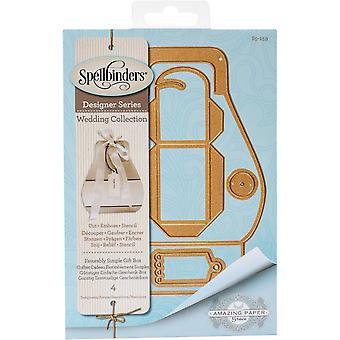 Spellbinders Shapeabilities Dies-gynnsamt enkel presentbox