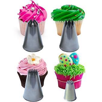 Cupcake Stars & Swirls Nozzle Set Extra Large Plus Strands Tip for Icing Cake Decoration & Sugarcraft