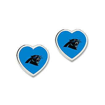 Wincraft Damen 3D Herz Ohrstecker - NFL Carolina Panthers
