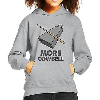 More Cowbell Colour Kid's Hooded Sweatshirt