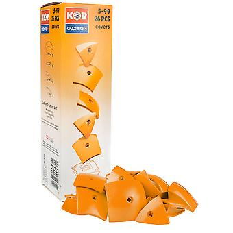 Geomag Kor Egg Covers - Orange - 26-Piece Creative Magnet Cover Addition