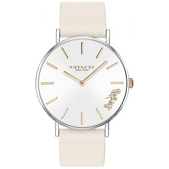 Coach Womens Perry | Chalk White Leather | White Dial 14503117 Watch