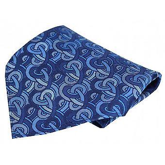Posh og Dandy Link mønster luksus Pocket Square - blå