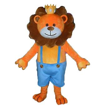 mascot SPOTSOUND of orange and Brown, lion with a Crown