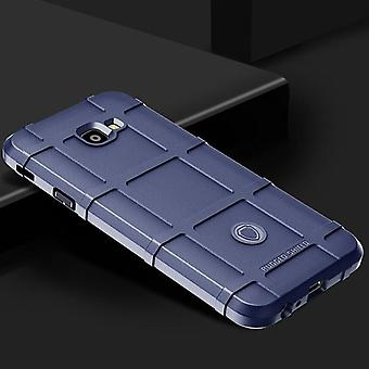 Para Samsung Galaxy J4 plus J415F escudo exterior Blau bolsa funda protección en serie nueva