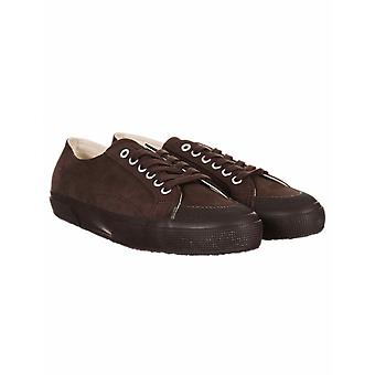 Superga 2390 Suede Cotu Classic Trainers - volledige donkere chocolade