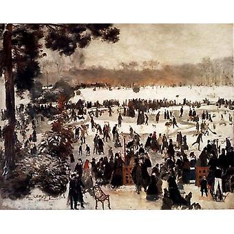 Skater im Bois De Boulogne, Pierre Renoir, 50x40cm