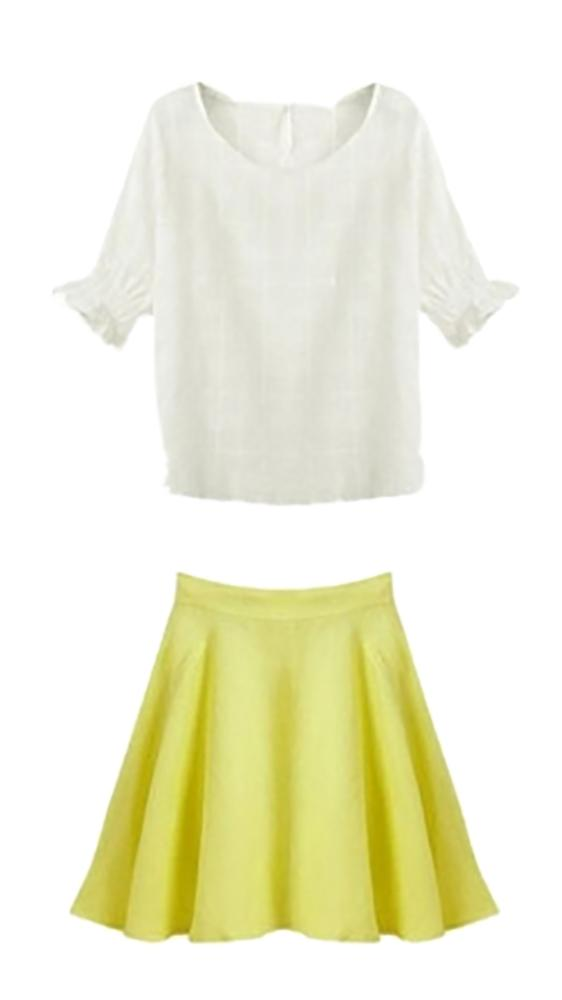 Waooh - skirt Ensemble and top with half sleeve Over