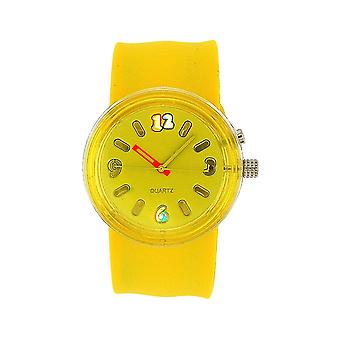 The Olivia Collection Yellow Silicone Strap Flashing Light Up Slap Watch LUS001
