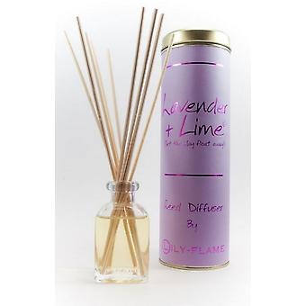 Lily Flame Scented Reed Diffuser - Lavender and Lime