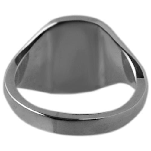 Palladium 950 ladies and boys plain cushion signet ring 12x10mm