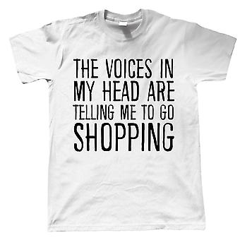 Voices In My Head Go Shopping, Mens T Shirt