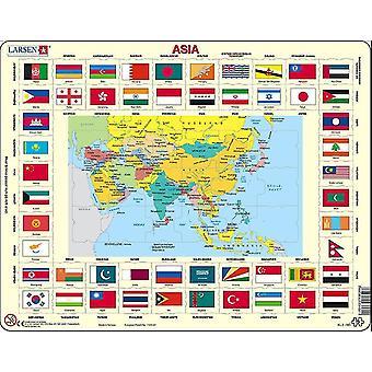 Карта Азии с головоломки флаги - кадр/Совет 29 x 37 см (LRS КЛ2 ГБ)