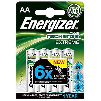 Energizer 2300mAh AA Extreme Rechargeable Batteries (Pack of 4)