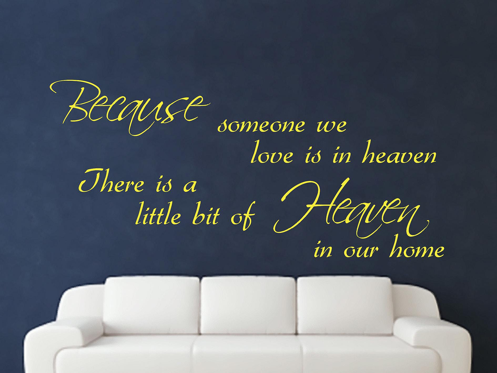 Because Someone Wall Art Sticker - Sulphur