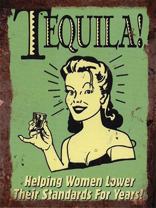 Vintage Metal Wall Sign - Tequila version 2