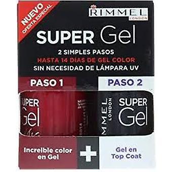 Rimmel Super Gel Gift Set 12ml Rock N Roll + 12ml Top Coat